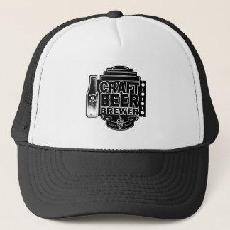 Boné Logotipo preto & branco do cervejeiro da cerveja
