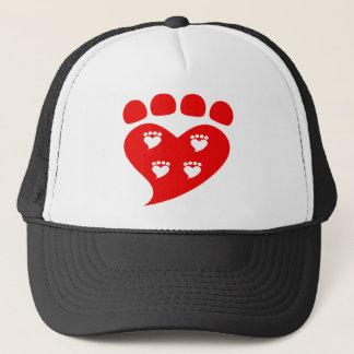 Boné Logotipo T do coração de Pawprints