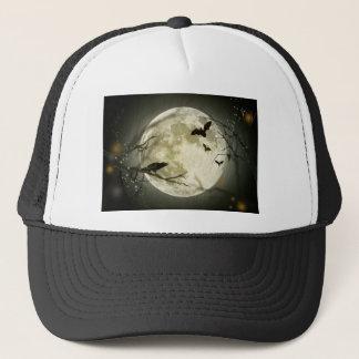 Boné Lua do Dia das Bruxas - ilustração da Lua cheia
