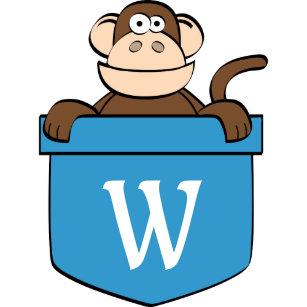 2c2c9f55691e8 Boné Macaco engraçado em um bolso Monogrammed