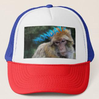 Boné Macaco triste sobre segunda-feira
