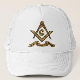 Boné maçónico do emblema