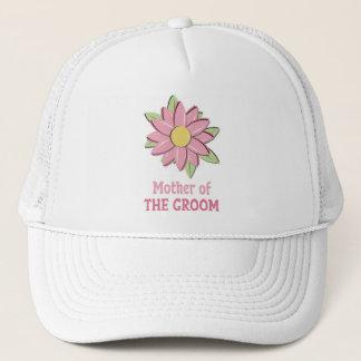 Boné Mãe cor-de-rosa da flor do noivo