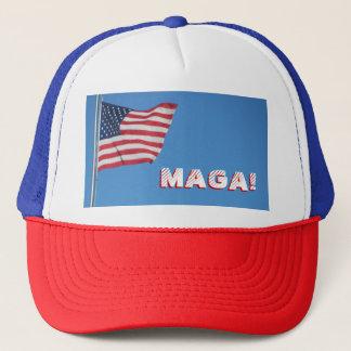 Boné MAGA! Bandeira americana