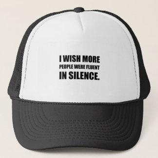 Boné Mais pessoas fluentes no silêncio