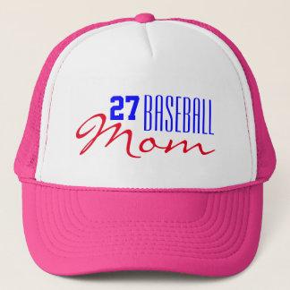 Boné Mamã do basebol com número do jérsei
