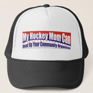Boné Mamã do hóquei contra o organizador da comunidade
