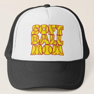 Boné Mamã do softball, red&yellow