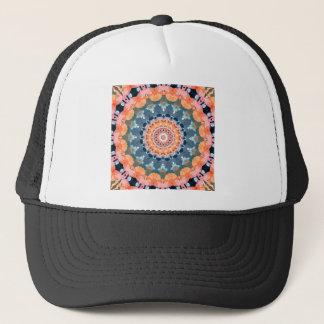 Boné Mandala alaranjada abstrata