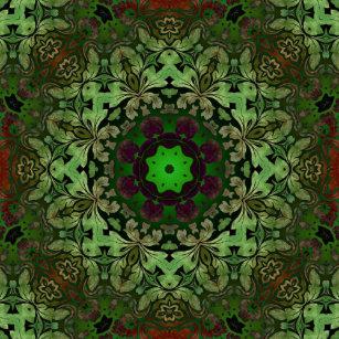 Boné Mandala chique da verde floresta do hippy boémio 8880042e706