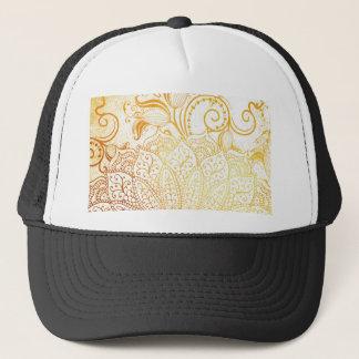 Boné Mandala - escova dourada