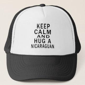 Boné Mantenha a calma e abrace um Nicaraguan