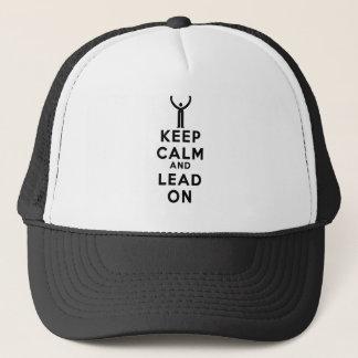 Boné Mantenha a calma e conduza-a no chapéu