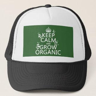 Boné Mantenha a calma e cresça orgânico (todas as