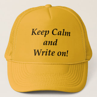 Boné Mantenha a calma e escreva-a sobre