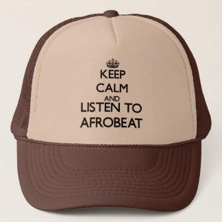 Boné Mantenha a calma e escute AFROBEAT