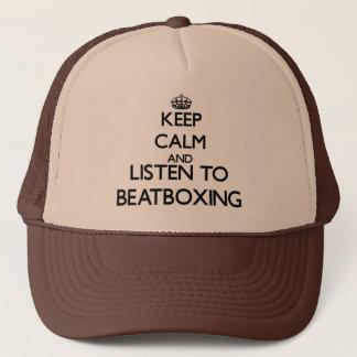 Boné Mantenha a calma e escute BEATBOXING