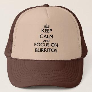 Boné Mantenha a calma e o foco em Burritos