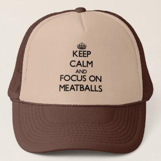 Boné Mantenha a calma e o foco em Meatballs