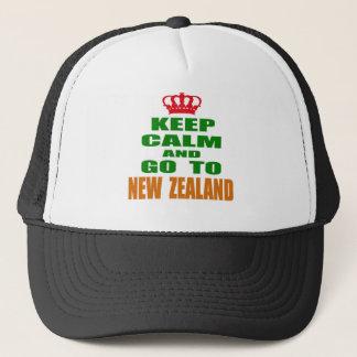 Boné Mantenha a calma e vá a Nova Zelândia.
