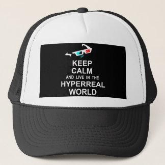 Boné Mantenha a calma e viva no mundo hyperreal