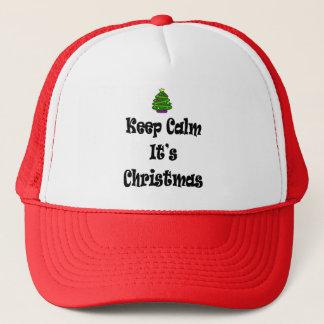Boné Mantenha a calma seus Natal e árvore