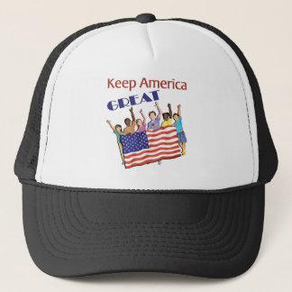 Boné Mantenha a grande parada adulta de América