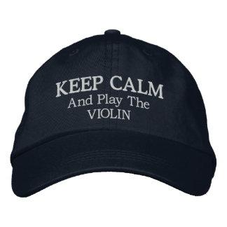 Boné Mantenha o chapéu bordado do violino música calma