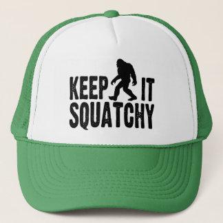 Boné Mantenha-o chapéu do camionista de Squatchy