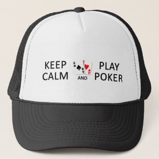 Boné MANTENHA o chapéu do PÓQUER da CALMA & do JOGO -