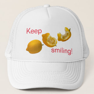 Boné Mantenha sorrir