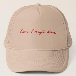 Boné Mão viva do amor do riso do vermelho original