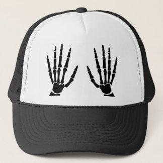 Boné Mãos do osso isoladas