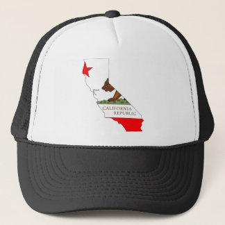 Boné Mapa da bandeira de Califórnia