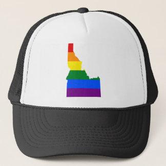 Boné Mapa da bandeira de Idaho LGBT
