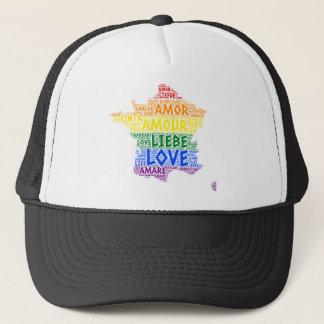 Boné Mapa de France do arco-íris de LGBT ilustrado com