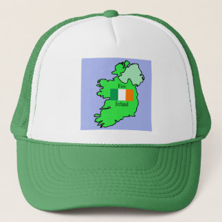 Boné Mapa e bandeira de Ireland