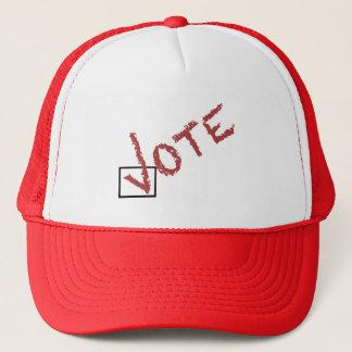Boné marca de verificação do voto