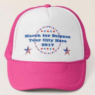Boné Março na ciência personalizada