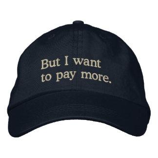 "Boné ""Mas eu quero pagar a mais"" miúdos ricos"
