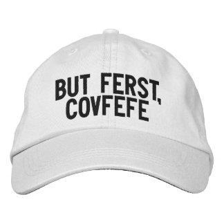 Boné MAS FERST, chapéu preto e branco engraçado de