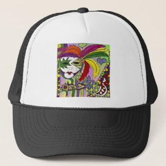 Boné Máscara psicadélico da pena do carnaval