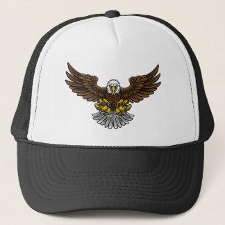 Boné Mascote calva de Eagle do americano