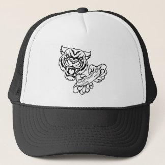 Boné Mascote do Gamer do tigre