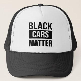 Boné Matéria preta dos carros - humor engraçado da