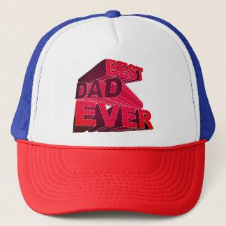 Boné Melhor pai 3D corajoso nunca