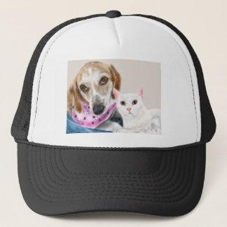 Boné Melhores amigos do cão e gato