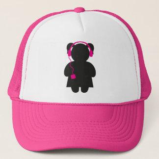 Boné Menina com o chapéu cor-de-rosa do camionista dos