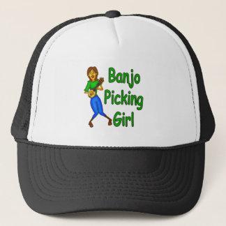 Boné Menina da colheita do banjo