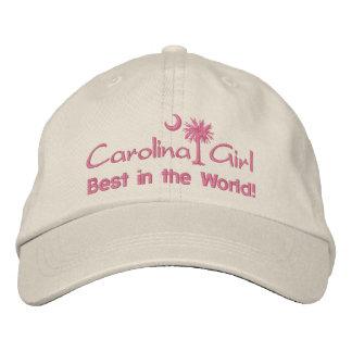 Boné Menina de Carolina melhor no chapéu bordado mundo